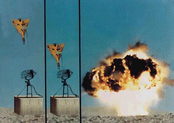 """В Israel Aerospace Industries (IAI) разработали БПЛА """"Гарпия"""" (Harpy),  предназначенные для борьбы с РЛС."""